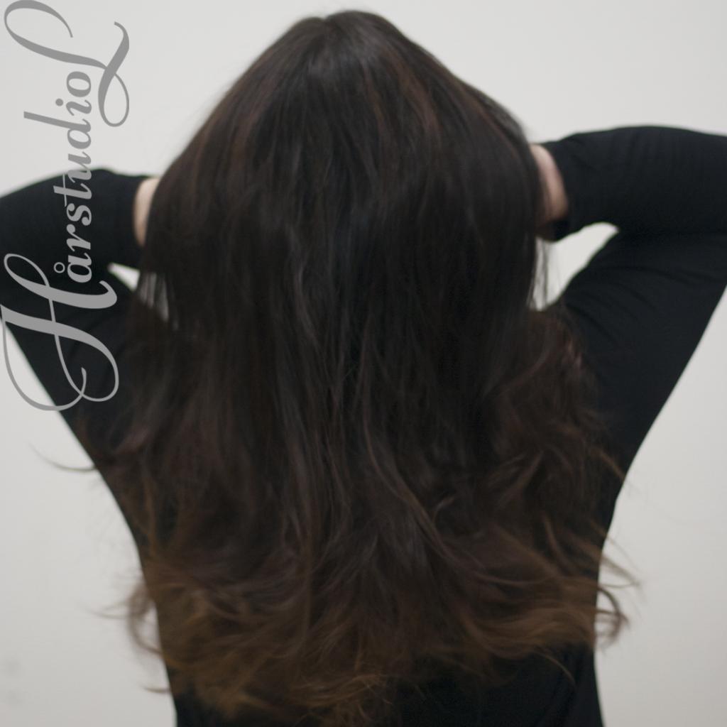färdigt resultat, hår